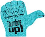 16 inch Thumbs Up Foam Hand